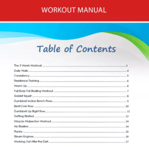 workout manual 3 week diet plan